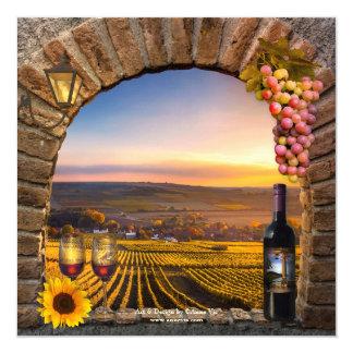 Inbjudan för party för vinavsmakningpension