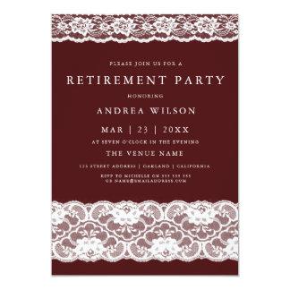 Inbjudan för party för vitsnöreBurgundy pension