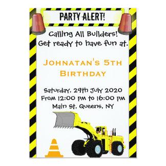 Inbjudan för pojkekonstruktionsfödelsedag
