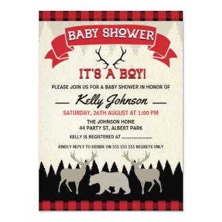 Inbjudan för pojkeLumberjackbaby shower