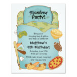 Inbjudan för pojkesovsäckfödelsedag