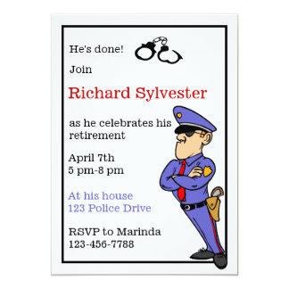 Inbjudan för polispensionparty