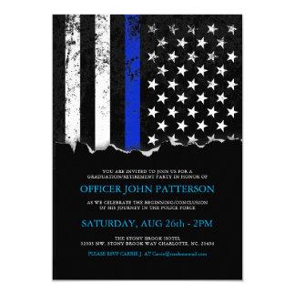 Inbjudan för polisstilamerikanska flaggan 12,7 x 17,8 cm inbjudningskort