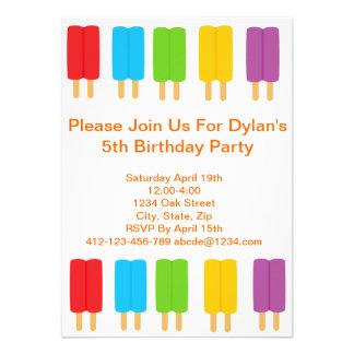 Inbjudan för Popsiclebarns födelsedagparty
