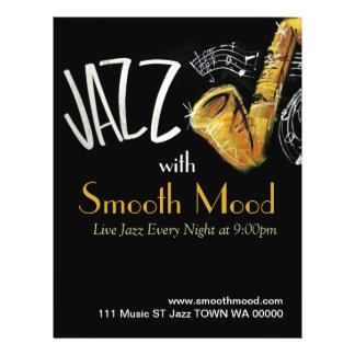 Inbjudan för reklamblad för musiker för Jazzmusik Reklamblad 21,5 X 30 Cm