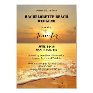 Inbjudan för resplan för Bachelorette strandhelg