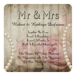 Inbjudan för romantiker- & vintage