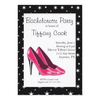 Inbjudan för rosa- & för svartkickhäl Bachelorette