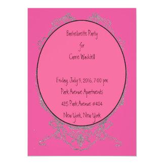 Inbjudan för shock rosapilbågeBachelorette party