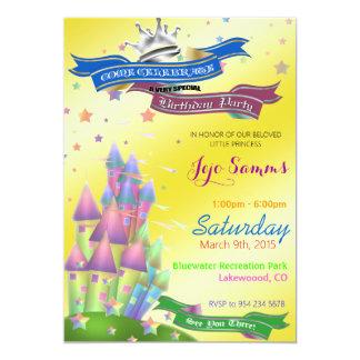 Inbjudan för slottbarns födelsedagparty