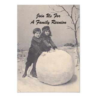 Inbjudan för snögubbe för möte för