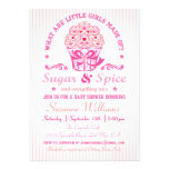 Inbjudan för socker- och kryddamuffinbaby shower