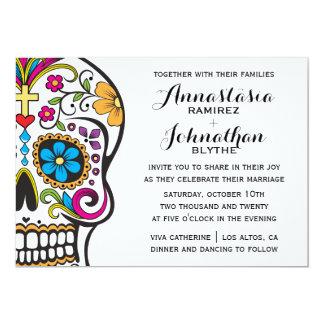 Inbjudan för sockerskallebröllop