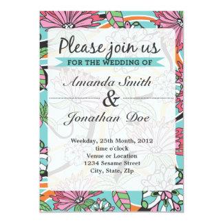 Inbjudan för sommarblommabröllop