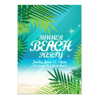 Inbjudan för sommarstrandparty 12,7 x 17,8 cm inbjudningskort