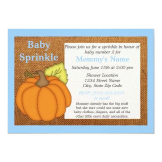 Inbjudan för stänk för baby för blåttpumpanedgång