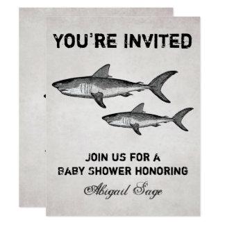 Inbjudan för strand för baby shower för