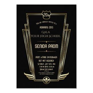 Inbjudan för STUDENTBAL för kunglig guldsvartart