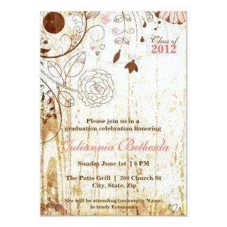 Inbjudan för studenten för vintageshabby chic