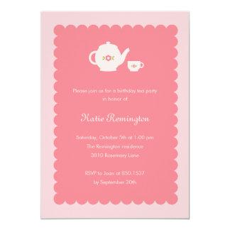 Inbjudan för Teapartyfödelsedag