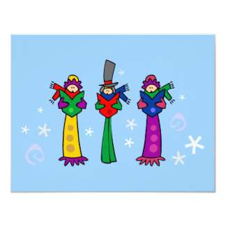 Inbjudan för tre julCarolers