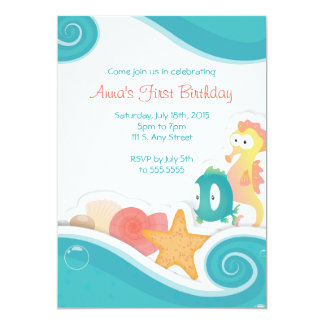 Inbjudan för ungeSeashorefödelsedagsfest