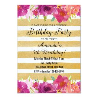 Inbjudan för vattenfärgrofödelsedag