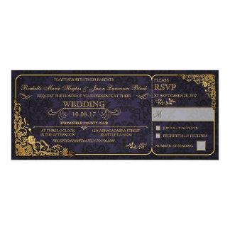 Inbjudan för Victorianbröllopbiljett med OSA