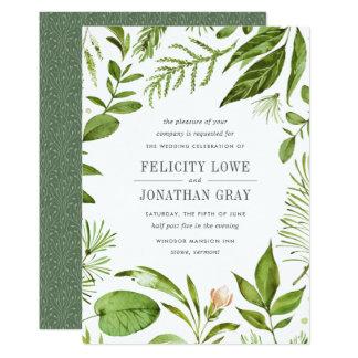 Inbjudan för vildängbröllop 12,7 x 17,8 cm inbjudningskort