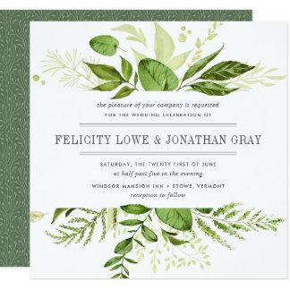 Inbjudan | för vildängbröllop kvadrerar fyrkantigt 13,3 cm inbjudningskort