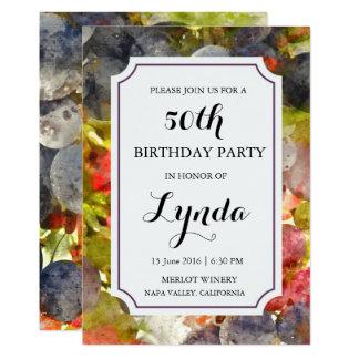 Inbjudan för vinodling- eller 12,7 x 17,8 cm inbjudningskort