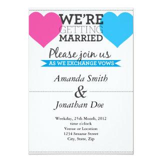Inbjudan för vintagehjärtabröllop