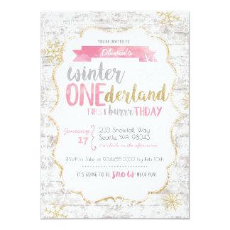 Inbjudan för vinterOnederland första födelsedag