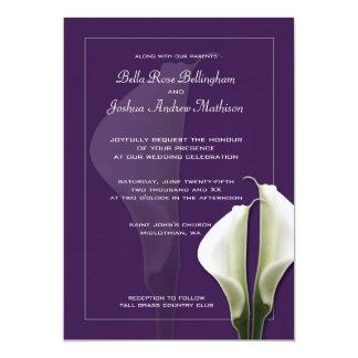 Inbjudan för vitCallaLillies bröllop på lilor 12,7 X 17,8 Cm Inbjudningskort
