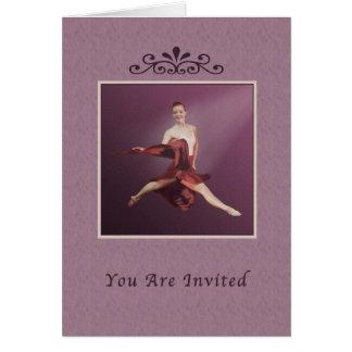 Inbjudan högläsning, Ballerina som hoppar i Jete Hälsningskort