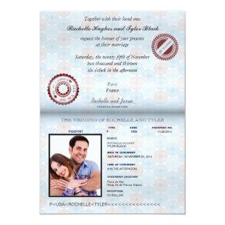Inbjudan II för bröllop för frankrikepass (ingen -