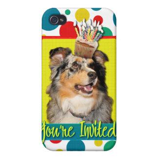 Inbjudanmuffin - australian shepherd - Dustine iPhone 4 Fodral