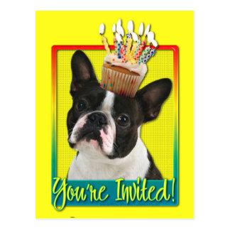 Inbjudanmuffin - Boston Terrier Vykort
