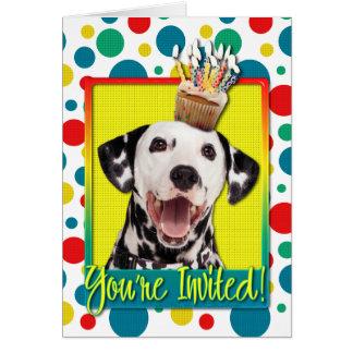Inbjudanmuffin - Dalmatian Hälsningskort