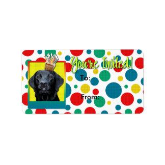 Inbjudanmuffin - Labrador - svart - Gage Adressetikett
