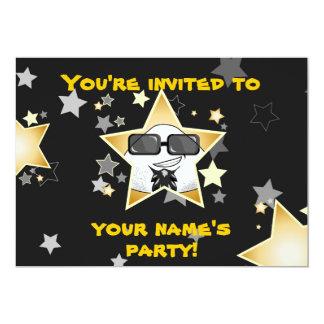 Inbjudet vid en stjärna! 12,7 x 17,8 cm inbjudningskort