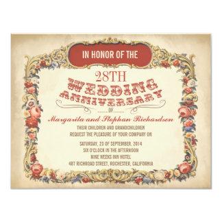 inbjudningar för årsdag för vintagevictorian blom-