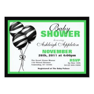 Inbjudningar för baby shower för zebra