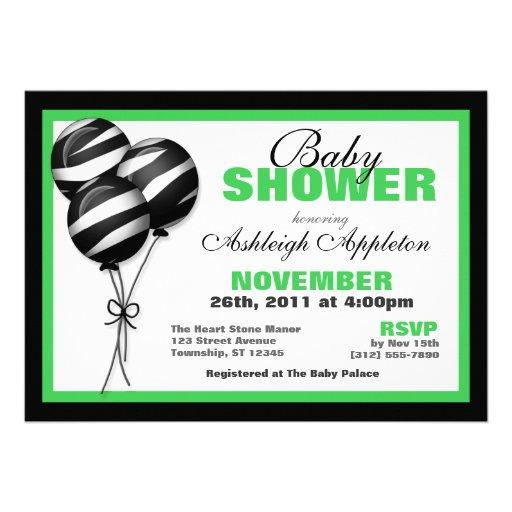 Inbjudningar för baby shower för zebra tryckballon