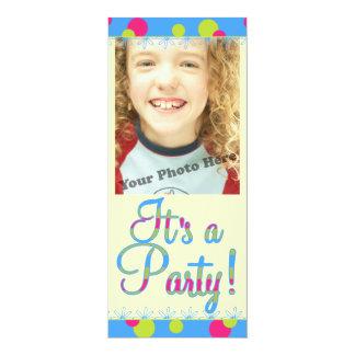 Inbjudningar för barns födelsedagpartyfoto 10,2 x 23,5 cm inbjudningskort