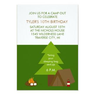 Inbjudningar för barns födelsedagpartyläger ut