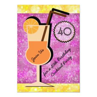 Inbjudningar för Bokeh cocktailpartyfödelsedag 12,7 X 17,8 Cm Inbjudningskort