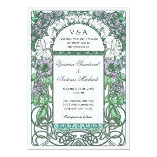 Inbjudningar för bröllop för art nouveauvintage