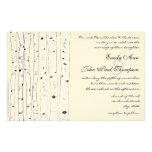 Inbjudningar för bröllop för elfenbenbjörkträd