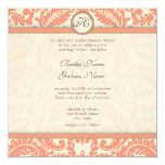 Inbjudningar för bröllop för grå Victorian för Fyrkantigt 13,3 Cm Inbjudningskort